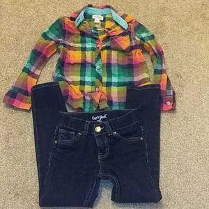 Plaid 🌈 shirt and pants!